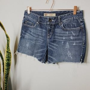 • BKE • Hannah denim cut off jean shorts